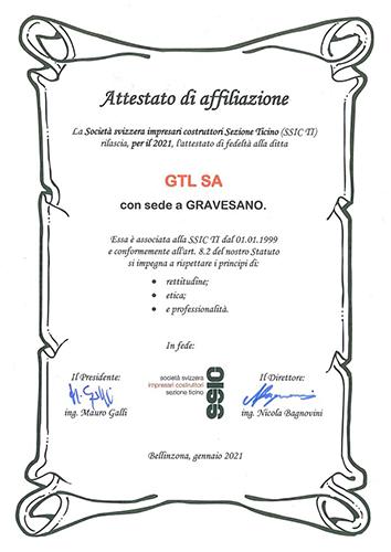 GTL associata SSIC